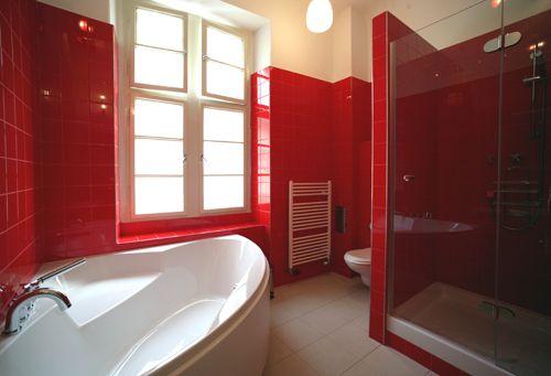 Pin By One Week Bath Los Angeles Ba On Red Animal Prints Rocks My World Bathroom Red Bathroom Interior Design Minimalist Decor