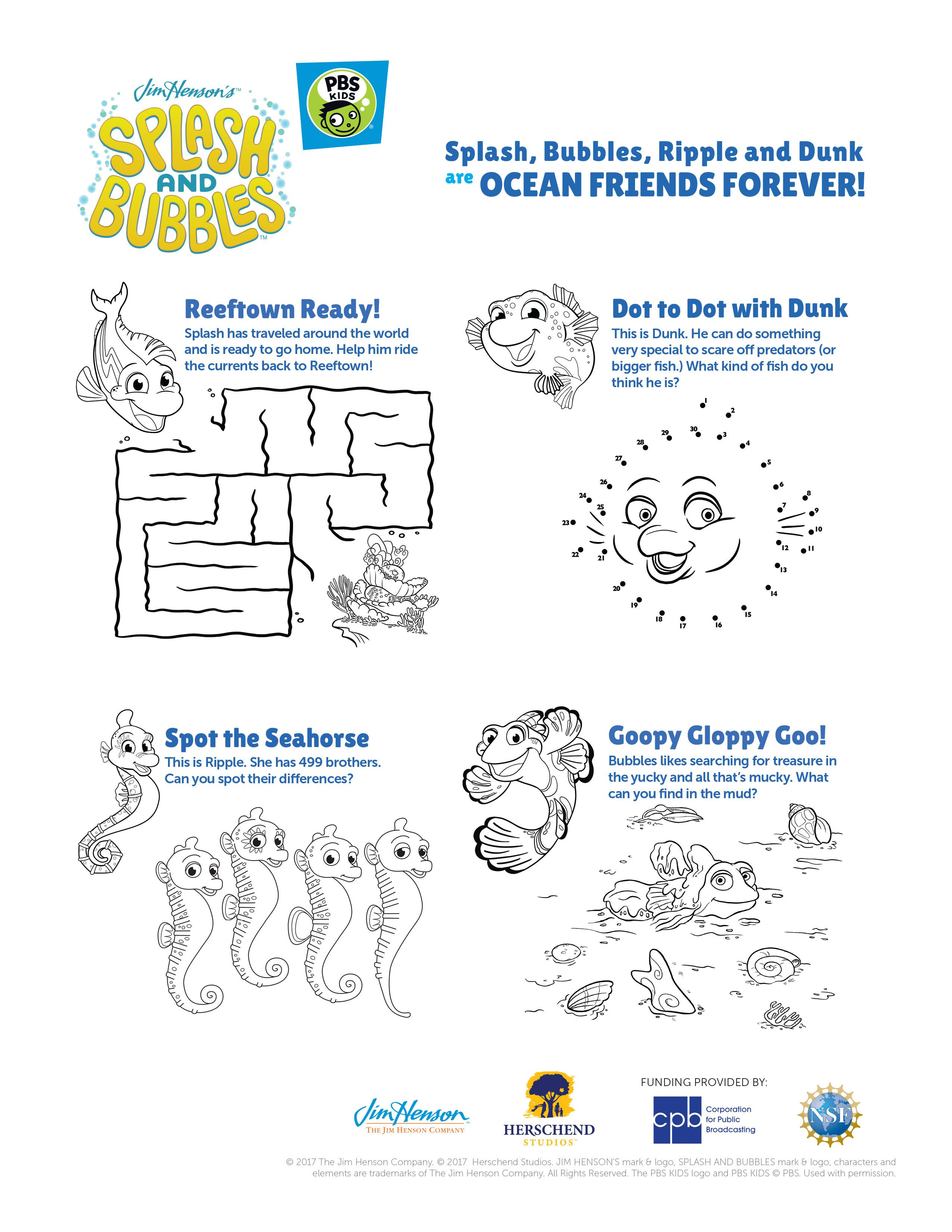 celebrate world oceans month with splash and bubbles
