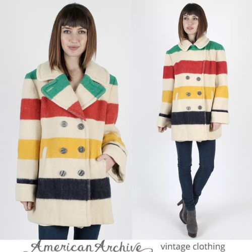 Vintage-80s-Hudsons-Bay-Jacket-Striped-Southwestern-Native-Indian-Blanket-Coat