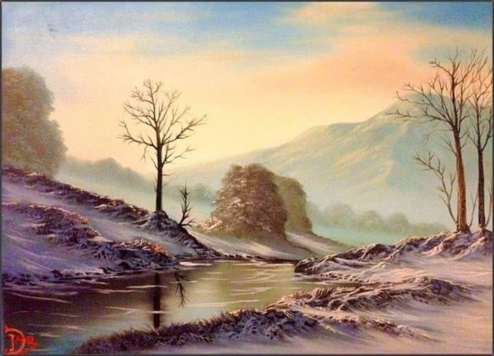 Snowy Mountan by DMel3