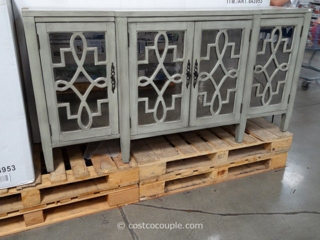 Stein World Lawrence Credenza @ Costco   The Credenza Has An Antique  Mirrored Glass Front With Scroll Fretwork And Interior Shelf.