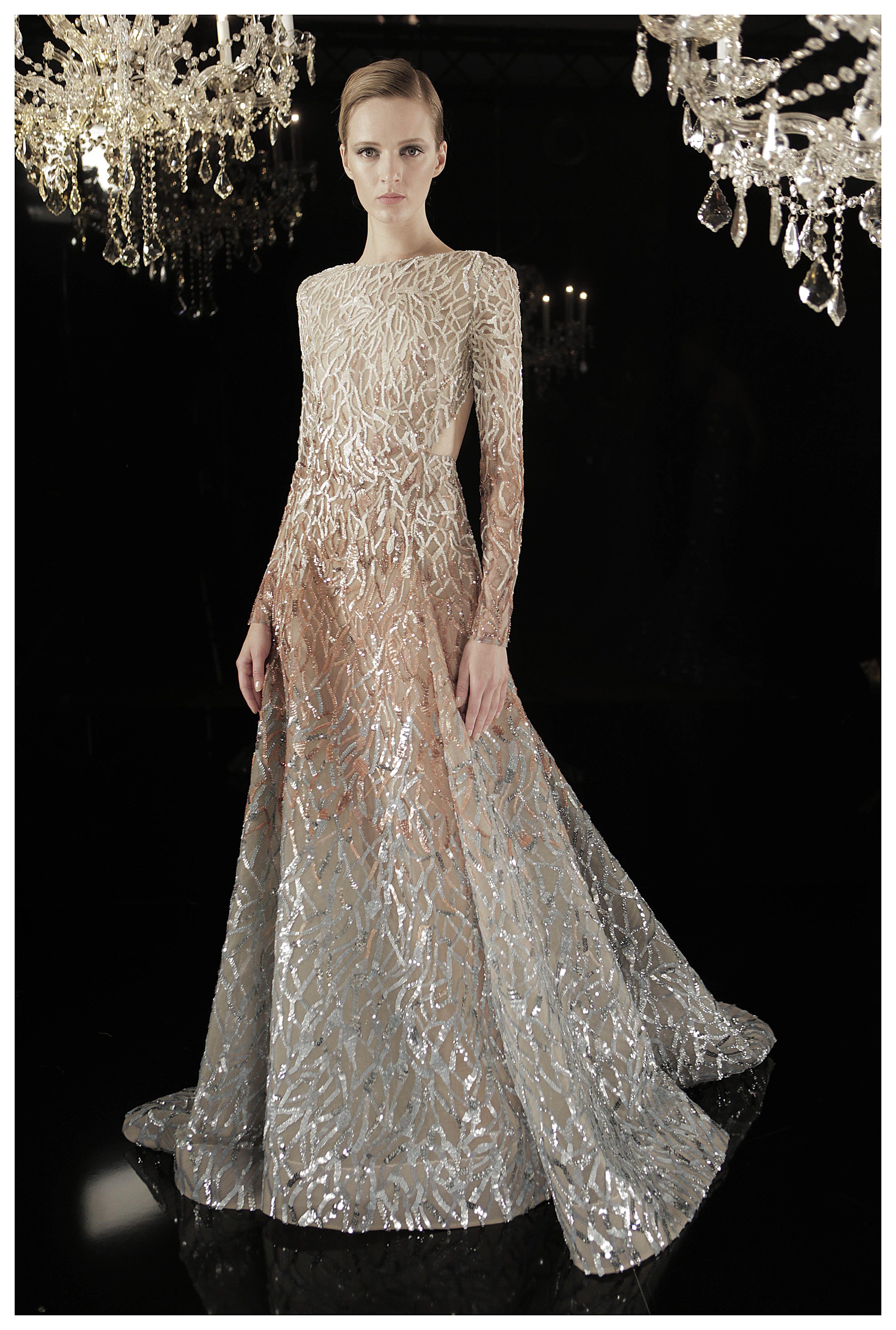 Metallic wedding dress  ELIE SAAB Haute Couture Fall Winter   Studio shopping