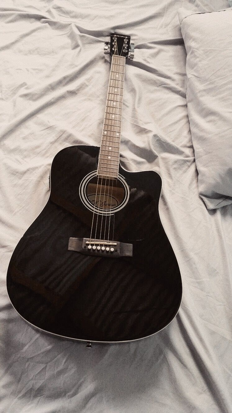 Oziezoe Black Acoustic Guitar Guitar Guitar Photography