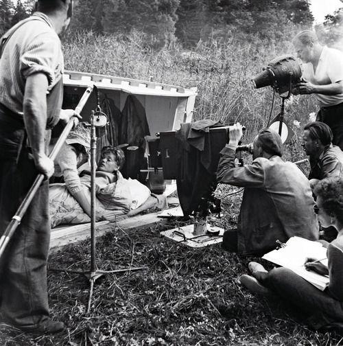 Ingmar Bergman at work on Summer with Monika (1953).