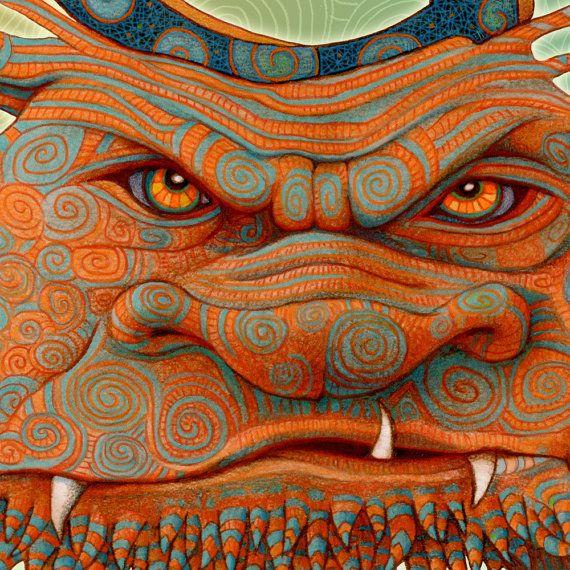 Guardian monster illustration