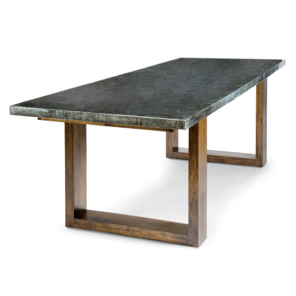 Lfd Zinc Dining Table With Plain Top Zinc Dining Tables Metal Dining Room Dining Table