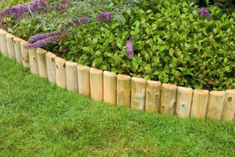 High Quality Wooden Lawn Edging