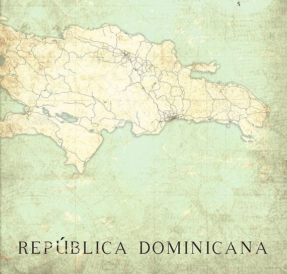 Dominicana canvas print dominican republic vintage map vintage dominicana canvas print dominican republic vintage map repblica dominicana wall art poster vintage retro old map travel gift home decor map gumiabroncs