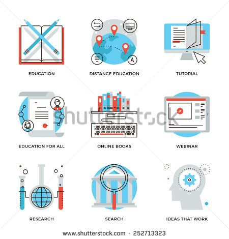 Thin line icons of global education form online webinar video thin line icons of global education form online webinar video tutorial certificate of yelopaper Choice Image