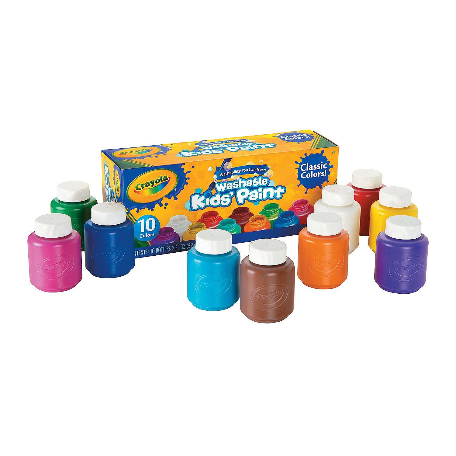 2 Oz Crayola Classic Colors Washable Assorted Colors Kid S Paint