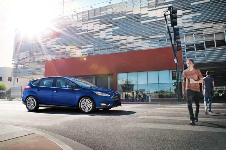 2017 Ford Focus Titanium Hatchback in Kona Blue. Ford