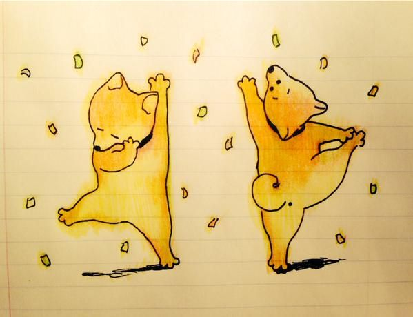 Shibes by Jingae 진 #animals #illustration #doge
