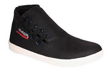 Use Coupon Code: BIGFOOT & Get Flat 10% Extra Off CATEGORY   :  Casuals USAGE     :     Casual OCCASION   :  Daily COLOUR    :    Black COLOUR FAMILY   :   Black CLOSING Lace   :   Ups MATERIAL   :  Canvas MATERIAL FAMILY   :  Canvas