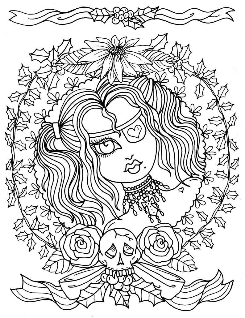 A Gothic Christmas Digital Coloring Book Fun Coloring Pages Etsy Livre De Couleur Coloriage Halloween Pages De Coloriage Chretien