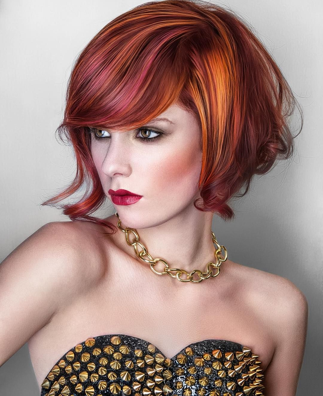 Red hair color ideas are countless from light red orange shades to