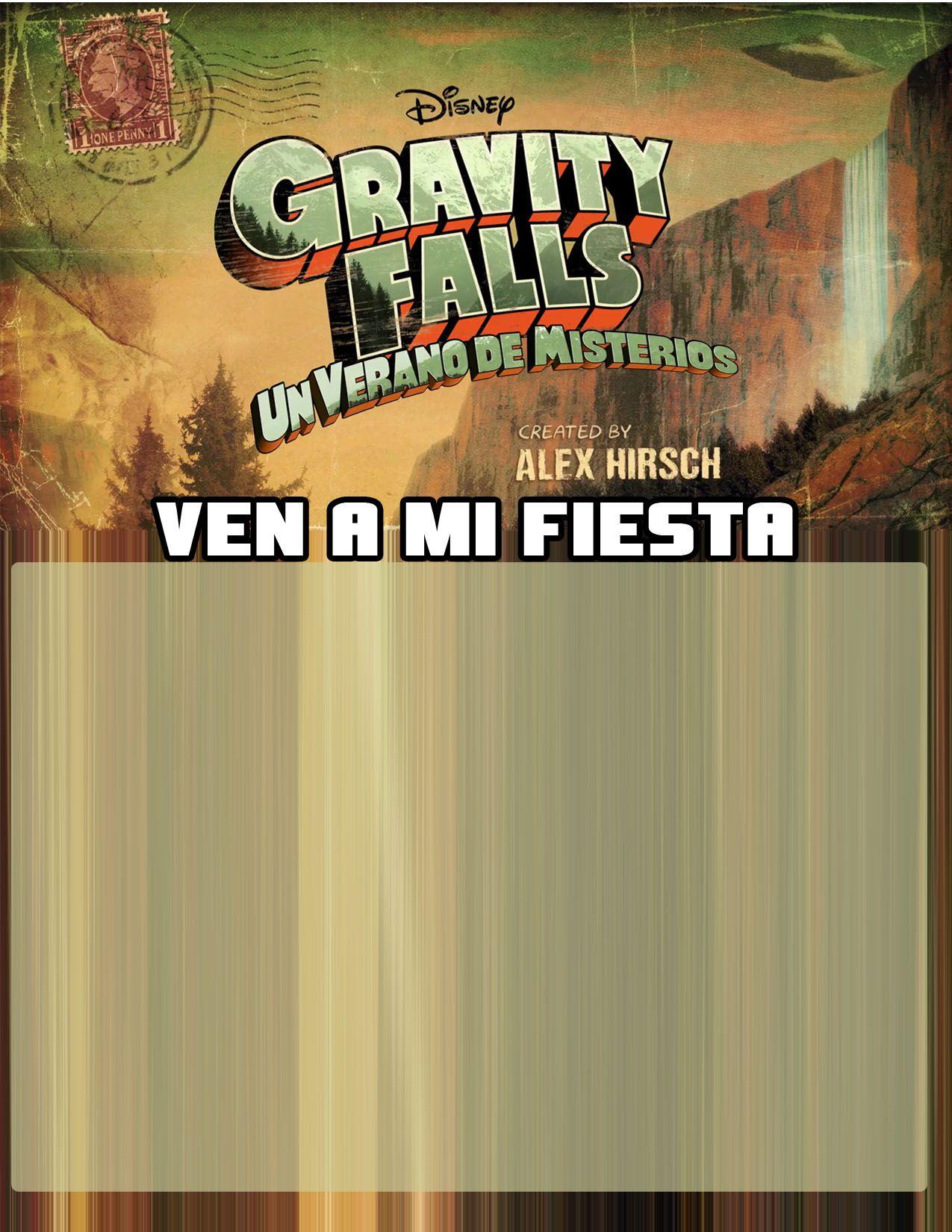 Invitacion Para Cumpleaños De Gravity Falls Invitaciones
