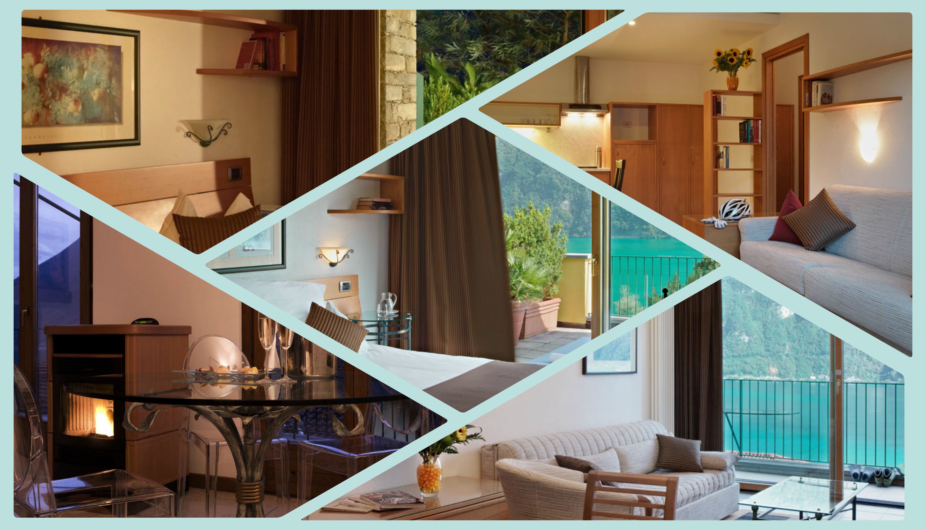 Suites Collage 2  .  .   http://www.parco-san-marco.com/en/rooms-suites/   .   .   #italy  #travel #hotel #lake #lugano #como #beach #holidays #vacation #family #golf #kids #leisure #parco #marco #lifestyle