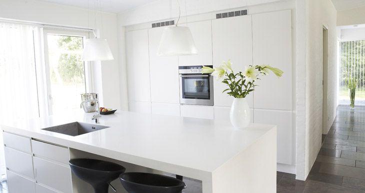 Futura køkken i hvid højglans - Køkken - Invita Køkkener