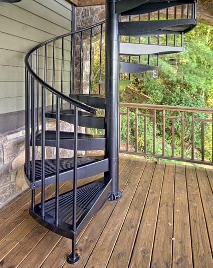 Best Aluminum Deck Configurable Spiral Stair Paragon 400 x 300