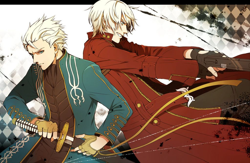 Devil May Cry : Vergil And Dante By LaddyLeon On