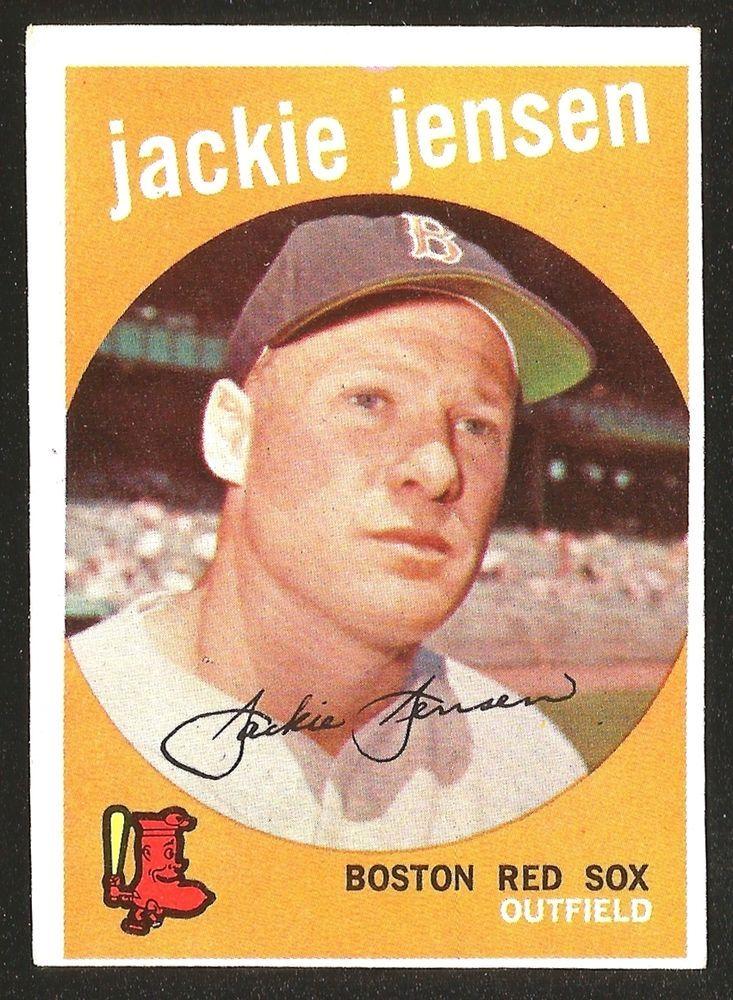 1959 Topps Baseball 400 Jackie Jensen Exexmint Boston Red
