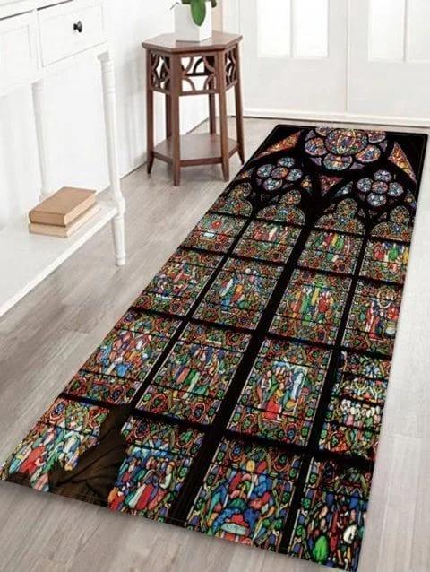 Stained Glass Cla2309235ru Runner Carpet Azcozy Cheap Bath Mats Bath Rugs Area Rugs