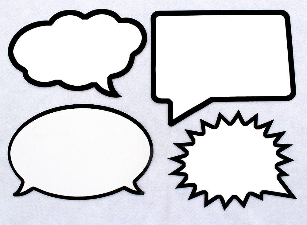LARGE Dry Erase Speech Bubble Board Set. Black Marker Included ...