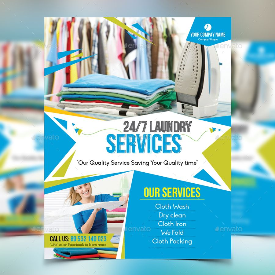 Laundry Service Flyer Flyer Design Templates Corporate Business