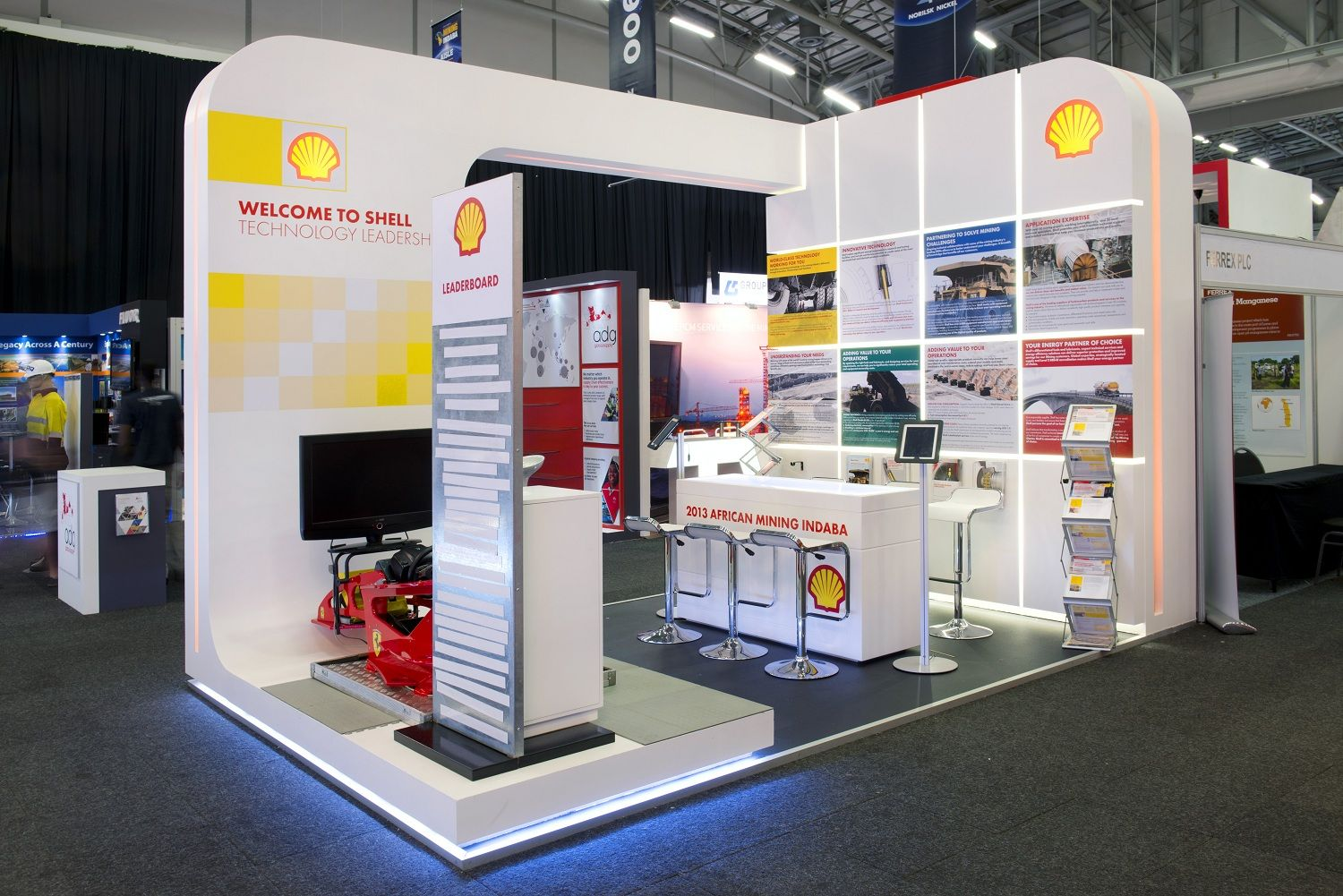 Exhibition Shell Zone : Shell mining indaba south africa trade show