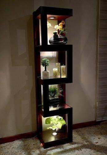 Mueble esquinero con luz de madera mdf proyectos a for Mueble esquinero salon