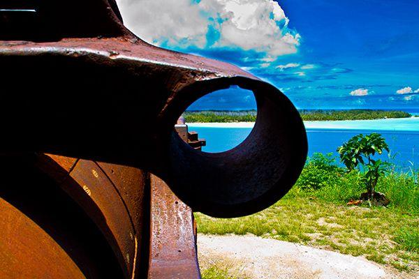 Bora Bora Wwii Guns One Of 4 Locations On The Island Of Bora Bora
