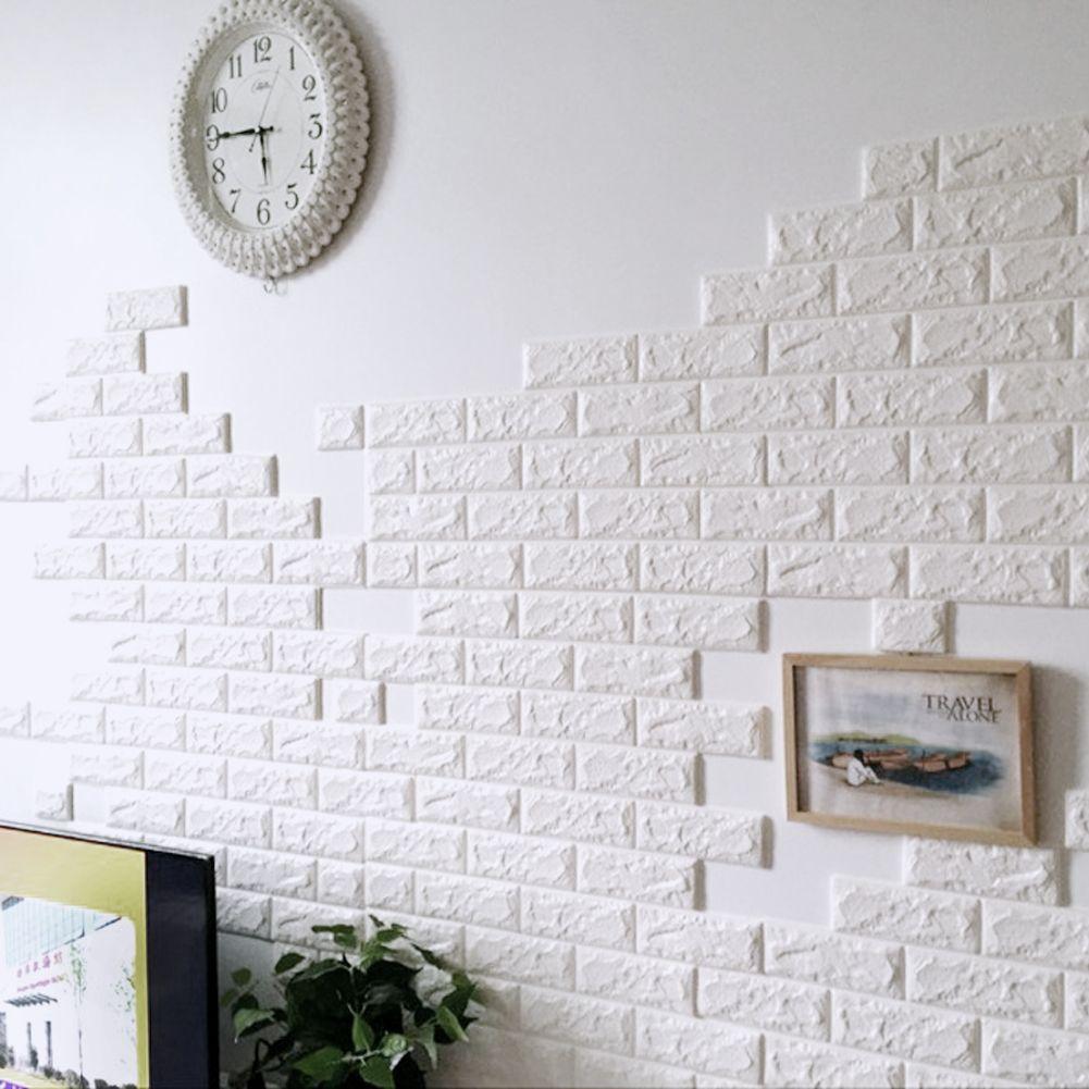 brick pattern wall paper pe foam decorative wall stickers living room kitchen home decor diy home improvement waterproof - Brick Kids Room Decor