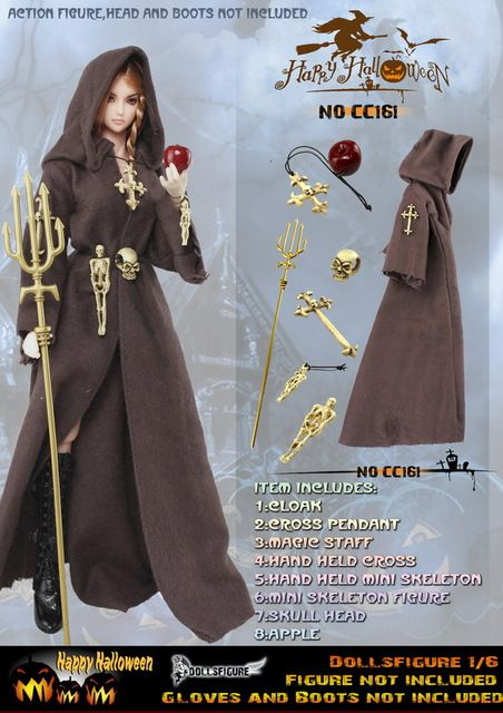 Dollsfigure cc160 Gothic 1/6 halloween holiday magic suit in stock ...