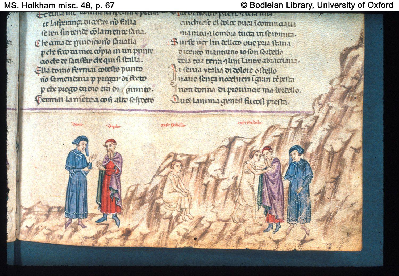 Dante, Divine Comedy, in Italian North Italy, Genoa ...