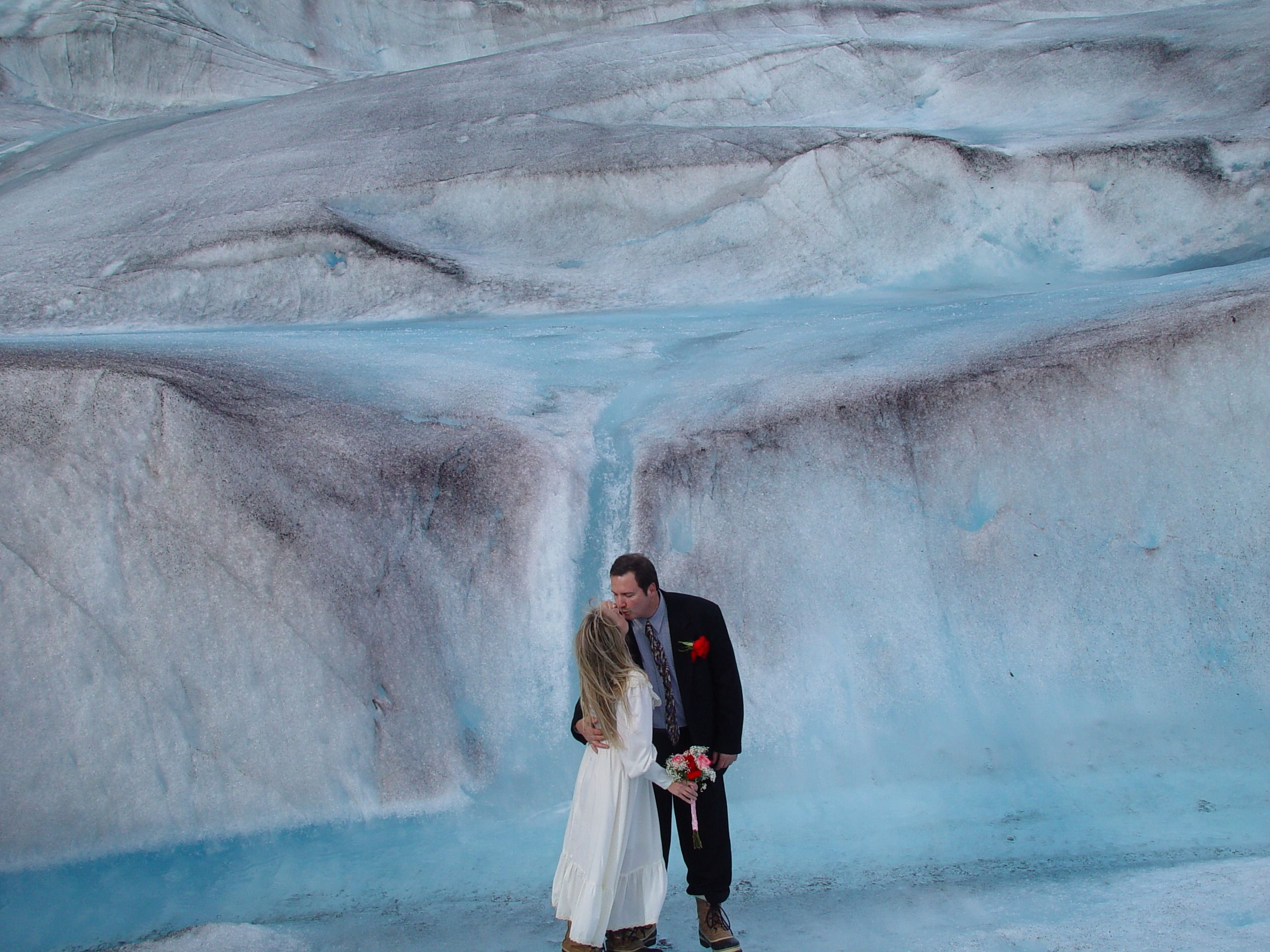 "At Pearson's Pond Luxury Inn & Adventure Spa in Juneau, Alaska couples can choose to say ""I Do"" on a nearby glacier.  #outdoor #weddings #Alaska"