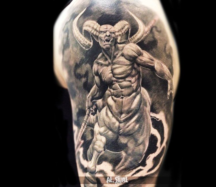 Devil Tattoo By Alexander Romashev