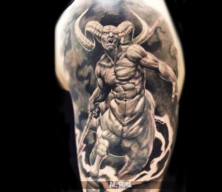 realistic devil tattoo by alexander romashev tattoo no