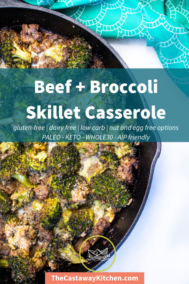 Photo of This Beef and Broccoli Skillet Casserole is the one skillet …