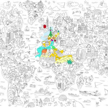 Omaľovánka Atlas, XXL | Bonami