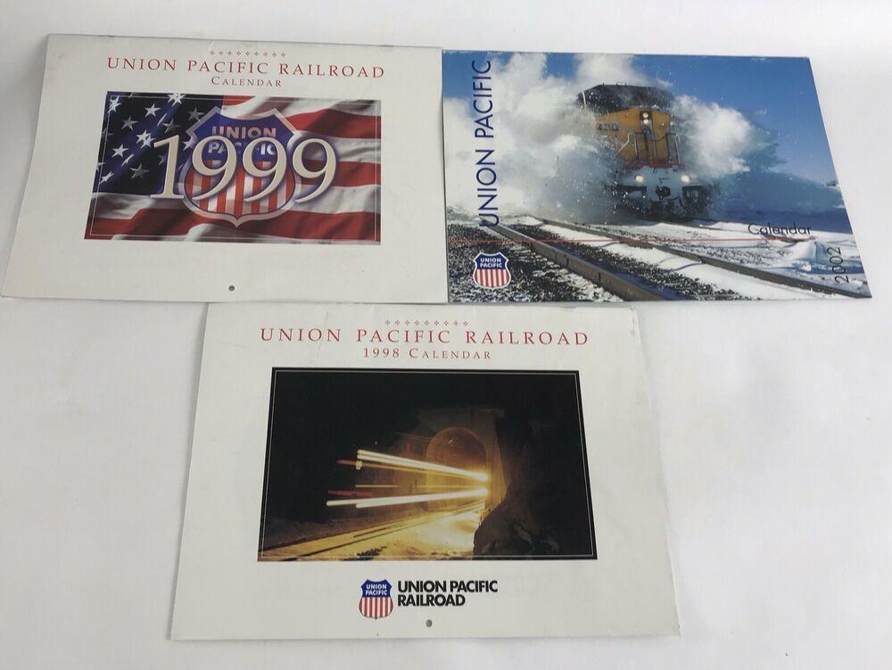 Vintage Full Year Union Pacific Railroad Train Color Calendar 1998