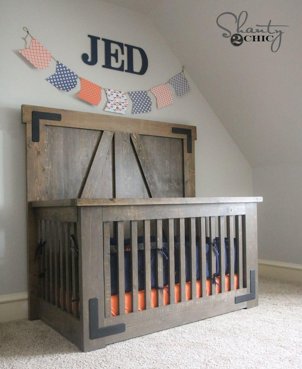 DIY Farmhouse Crib | Decoracion niños, Levis y Muchas