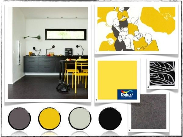 cuisine jaune et noire saint maclou cuisine pinterest cuisine jaune saint maclou et jaune. Black Bedroom Furniture Sets. Home Design Ideas