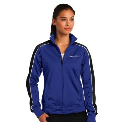 "Women's ""Registered Nurse"" Sport-Tek® Tricot Track Jacket"