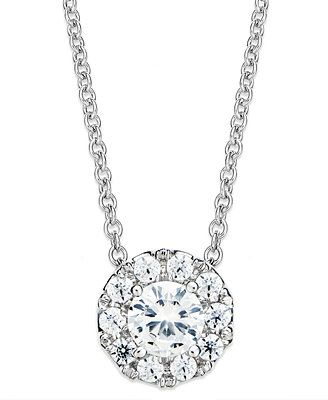 Diamond circle pendant necklace in 14k white gold 12 ct tw diamond circle pendant necklace in 14k white gold 12 ct tw aloadofball Gallery