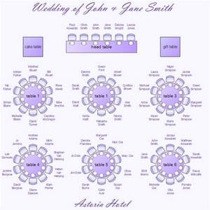 seating chart template round tables