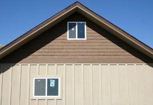 Harkins Home Board Batten Siding Custom Homes Garage Doors
