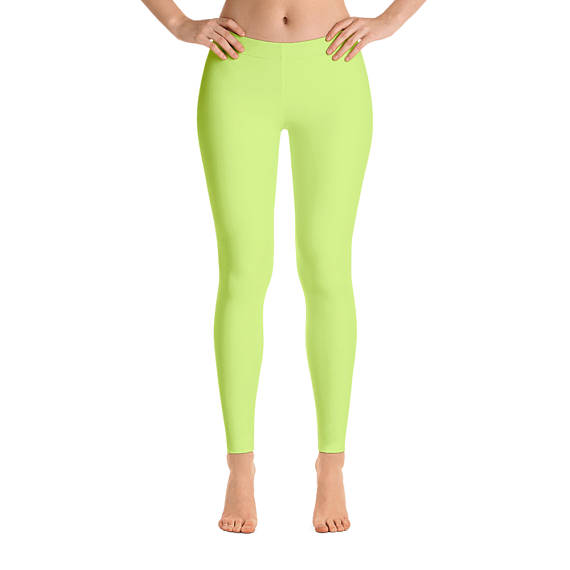 4f1362f247dda Neon Yellow Leggings, Workout Pants, Neon Workout Outfit, Womens Gym  Clothes, Activewear, Yoga Leggi