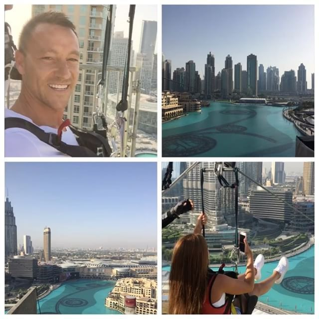 Terry's emotional zip wire in Dubai