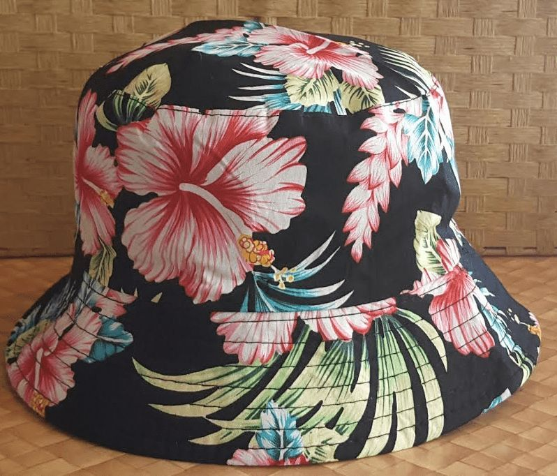 842f2ef8437 Hawaiian Bucket Hats with floral design. Choose from Pink and White ...