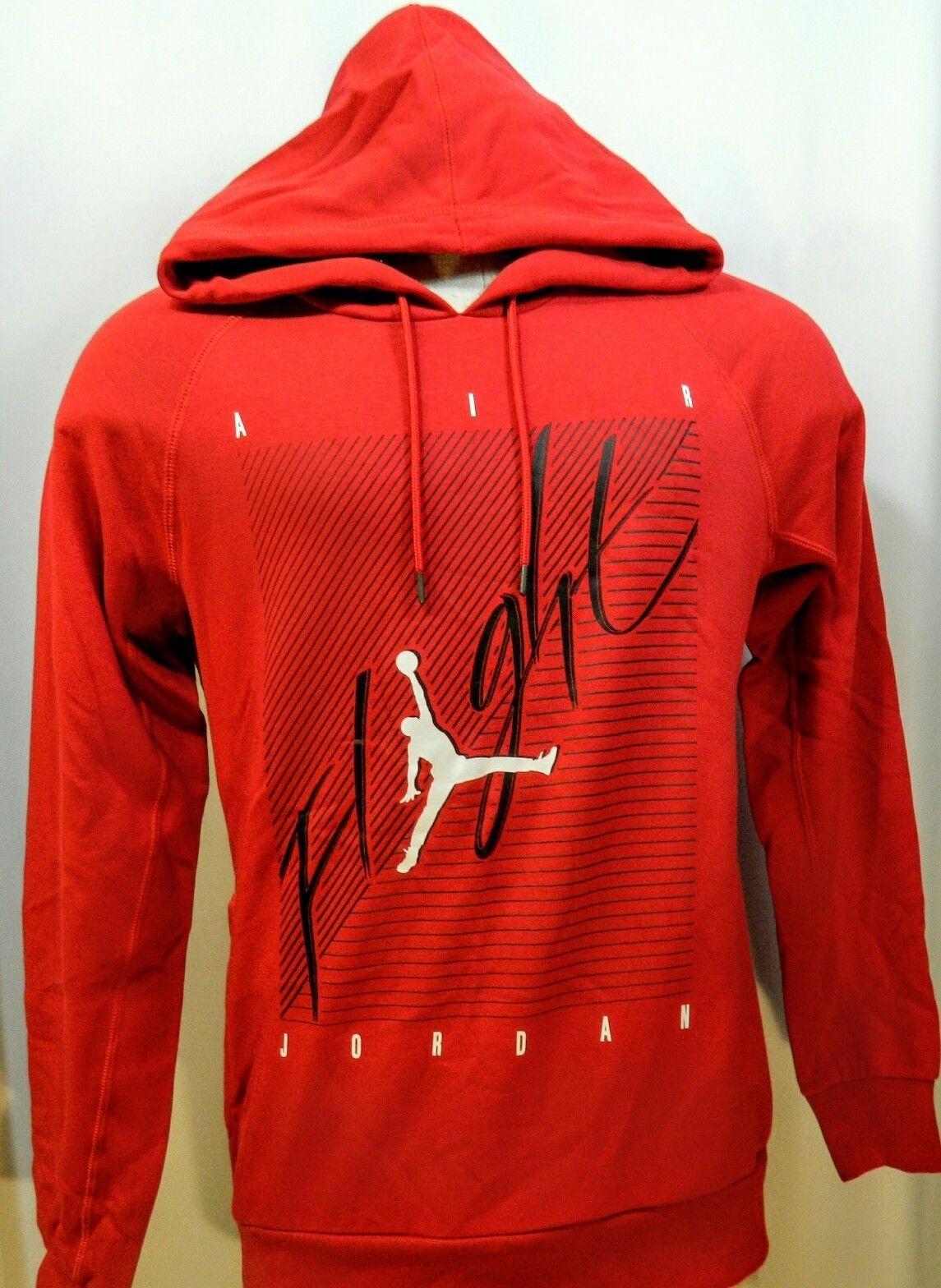 2f58c62e16e Nike Air Jordan Flight Hoodie Sweatshirt Mens Medium RED NWT | eBay ...
